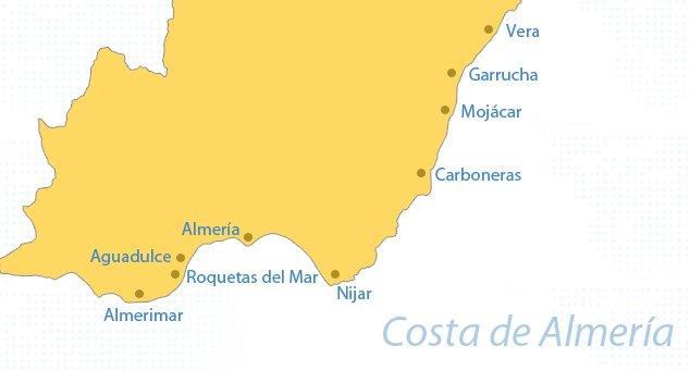 Kaart Costa de Almeria